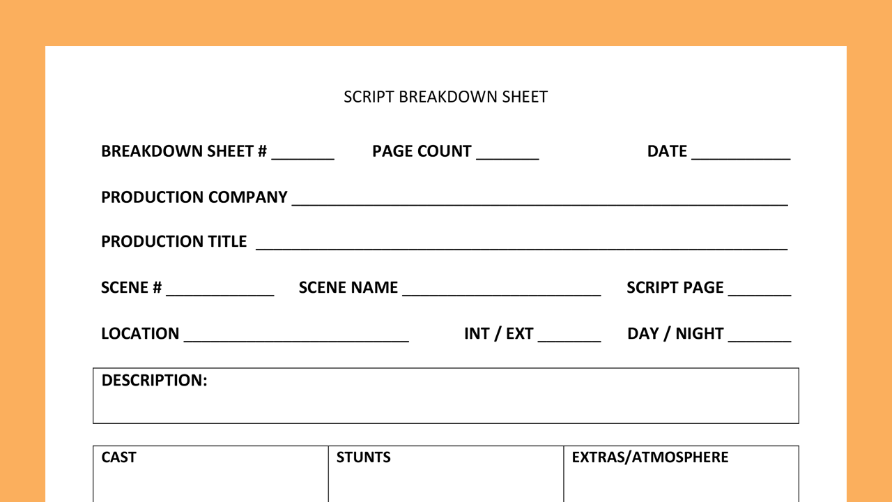 script breakdown sheet thumb